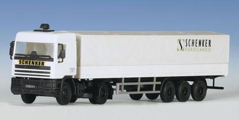 Kibri 14638 - DAF Zugmaschine mit Planenauflieger - H0