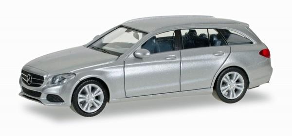 Herpa 038430-002 - Mercedes-Benz C-Klasse T Avantgarde, brillantsilber metallic - 1:87