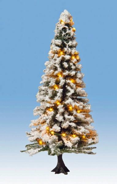 NOCH 22130 - Beleuchteter Weihnachtsbaum mit 30 LEDs, verschneit, 12 cm hoch - H0 / TT