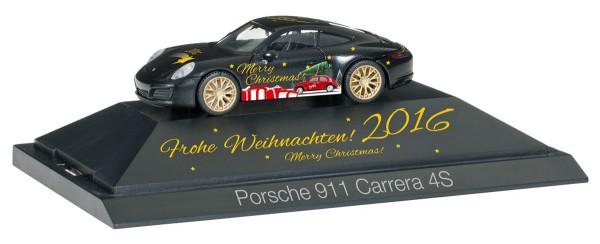 """Herpa 101998 - Porsche 911 Carrera 4S """"Herpa Weihnachts-PKW 2016"""" - 1:87"""