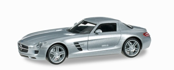 Herpa 034418-004 - Mercedes-Benz SLS AMG, iridiumsilbermetallic - 1:87