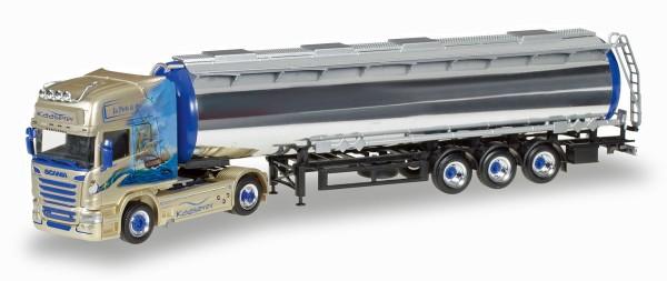 "Herpa 306508 - Scania R TL Chromtank-Sattelzug ""Kaaserer Entsorgung"" - 1:87"