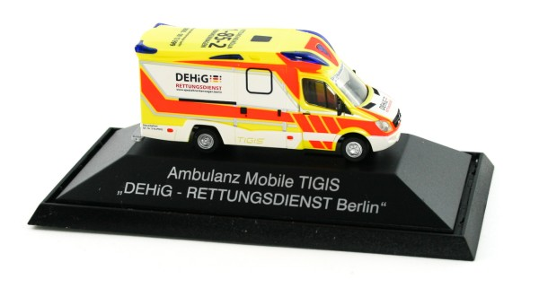Rietze 68626 - Ambulanz Mobile Tigis Ergo DEHiG Rettungsdienst Berlin - 1:87 - Einsatzserie