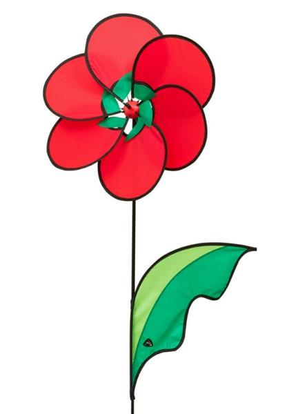 Invento-HQ Windspiel Windrad Poppy Flower - Mohnblume (43 x 103 cm)