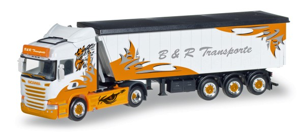 "Herpa 306287 - Scania R HL Stöffelliner-Sattelzug ""B&R Transporte / Arrow Hunter"" - 1:87"
