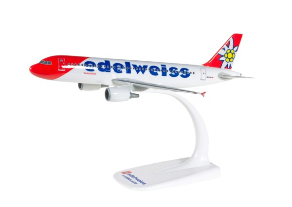 Herpa Wings 610940 - Edelweiss Air Airbus A320 new 2016 colors - 1:200 - Snap-Fit