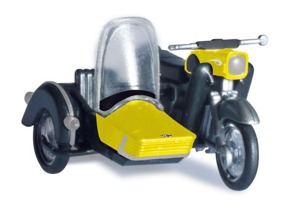 Herpa 053433-003 - MZ 250 mit Beiwagen, gelb/schwarz - 1:87