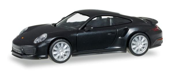 Herpa 028615 - Porsche 911 Turbo, schwarz - 1:87