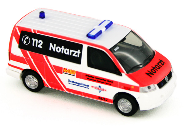 Rietze 51921 - Volkswagen T5 Notarzt ASB KV Wiesbaden - 1:87