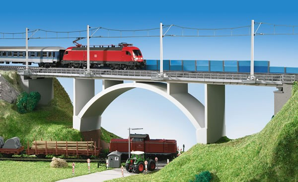 Kibri 39740 (9740) - Spannbeton - Bogenbrücke eingleisig - H0