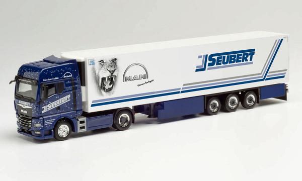 "Herpa 312714 - MAN TGX GX Kühlkoffer-Sattelzug ""Seubert / Blue Lady 2020"" - 1:87"