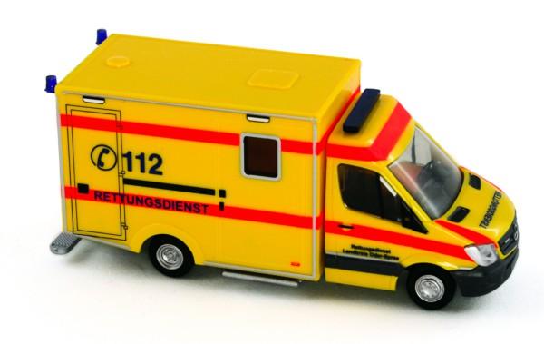 Rietze 61719 - WAS RTW Facelift ´13 Rettungsdienst Landkreis Oder-Spree - 1:87