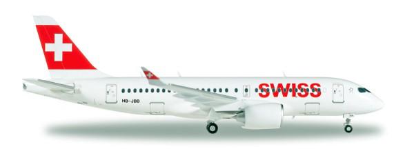 """Herpa Wings 558471-001 - Swiss International Air Lines Airbus A220-100 """"Canton de Genève"""" - HB-JBB -"""