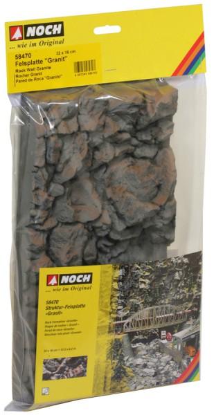"""NOCH 58470 - Felsplatte """"Granit"""", 32 x 16 cm - H0, TT"""
