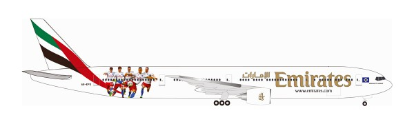 "Herpa Wings 530880 - Emirates Boeing 777-300ER ""Hamburger SV"" - A6-EPS - 1:500"
