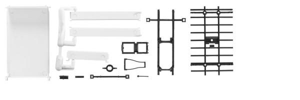 Herpa 084536 - Pritsche lang für 2-achs Kipper ohne Kran, Inhalt: 2 Stück - 1:87