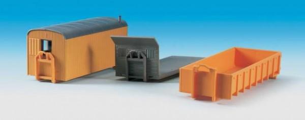 Kibri 15700 - 3 Absetzbehälter (für Baustellen) - H0