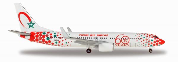 "Herpa Wings 531153 - Royal Air Maroc Boeing 737-800 ""60th anniversary"" - CN-RGV - 1:500"