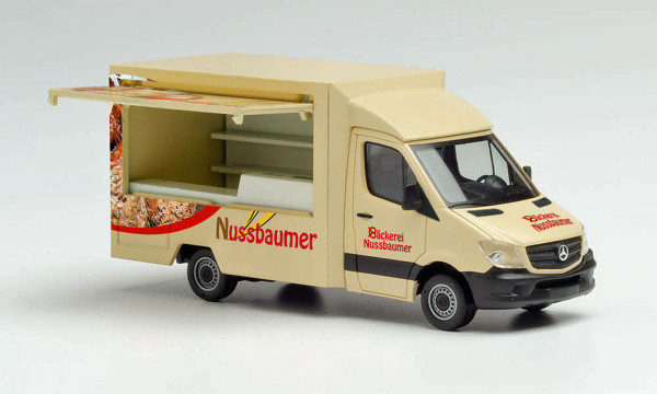 """Herpa 095877 - Mercedes-Benz Sprinter 13 Foodtruck """"Bäckerei Nussbaumer"""" - 1:87"""