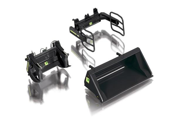 Wiking 077385 - Frontlader Werkzeuge Set A schwarz - 1:32