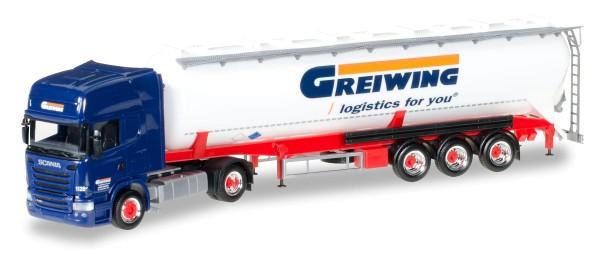 """Herpa 306195 - Scania R TL ADR-Silo-Sattelzug """"Greiwing"""" - 1:87"""