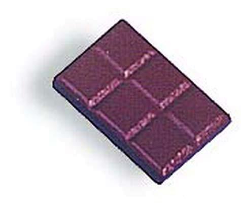 Schokolade aus Holz - 12 Stück (7041)