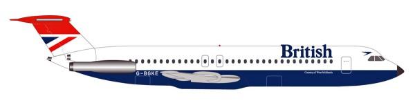 Herpa Wings 531733 - British Airways BAC 1-11-500 - Negus colors - G-BGKE - 1:500