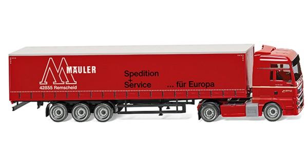 "Wiking 053707 - Gardinenplanensattelzug (MAN TGX Euro 6) ""Mäuler"" - 1:87"