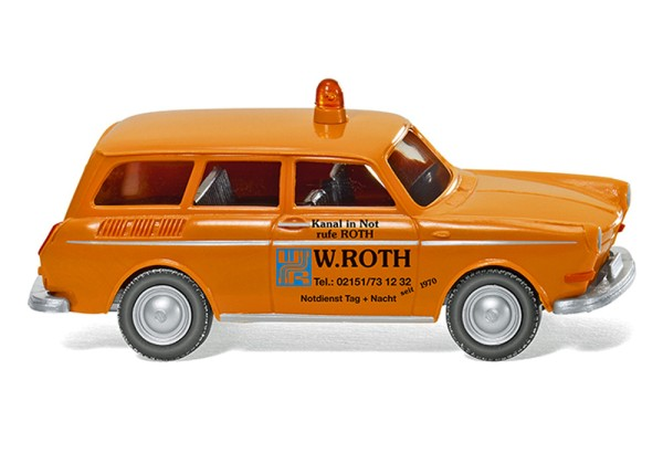 """Wiking 004201 - Notdienst - VW 1600 Variant """"W. Roth"""" - 1:87"""