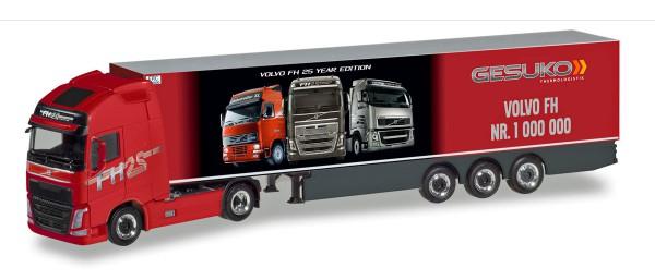 """Herpa 310024 - Volvo FH GL XL Kühlkoffer-Sattelzug """"Gesuko / der 1.000.000ste Volvo"""" - 1:87"""