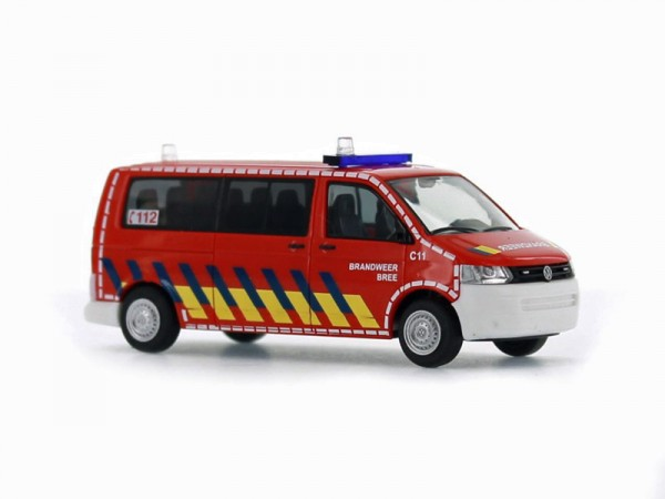 Rietze 52625 - VW T5 GP Bus LR FD Brandweer Bree (NL) - 1:87