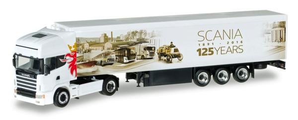 "Herpa 306454 - Scania 164 TL Schubboden-Sattelzug ""125 Jahre Scania"" - 1:87"