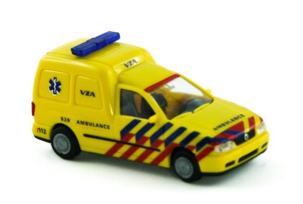 Rietze 50849 - VW Caddy Kasten Ambulance (NL) - 1:87