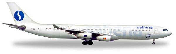 "Herpa Wings 532655 - Sabena Airbus A340-200 ""75th Anniversary"" - OO-SCX - 1:500"