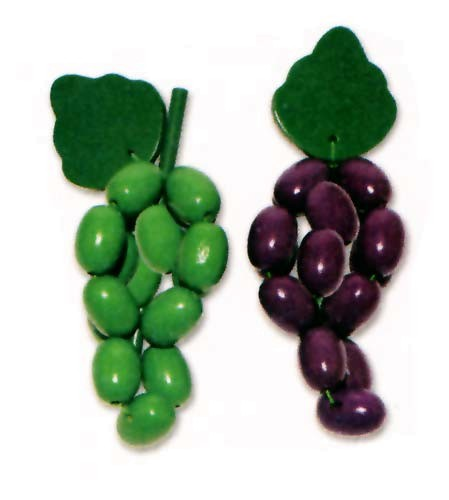 Weintrauben aus Holz - 12 Stück (7040)