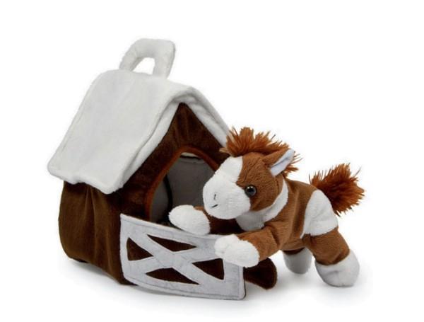 Pony im Stall