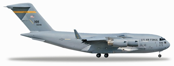 Herpa Wings 531665 - U.S. Air Force Boeing C-17A Globemaster III - 15th AW, 535th AS, Hickam AFB - 0