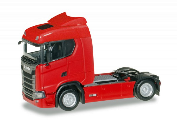 Herpa 310185 - Scania CS 20 Niederdach Zugmaschine, rot - 1:87