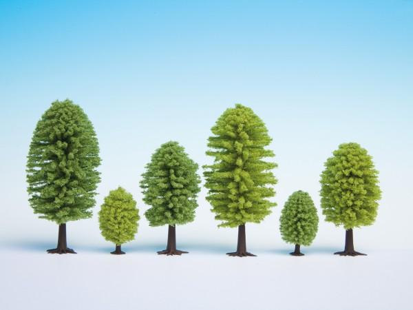 NOCH 26901 - Hobby Laubbäume, 10 Stück, 5 - 9 cm hoch - H0 / TT