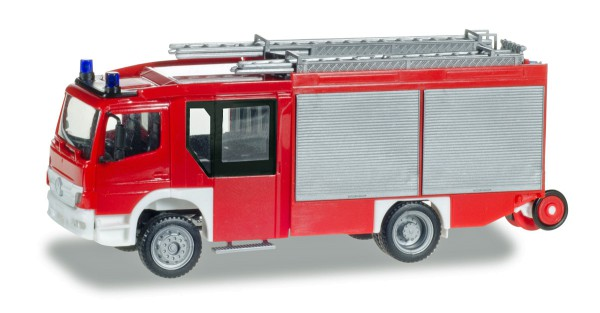 """Herpa 093200 - Mercedes-Benz Atego Ziegler Z-Cab LF 20, unbedruckt """"Feuerwehr"""" - 1:87"""