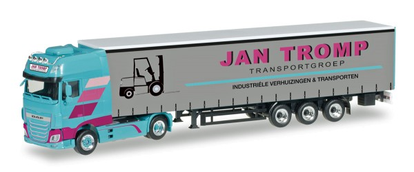 "Herpa 306607 - DAF XF SSC Euro 6 Gardinenplanen-Sattelzug ""Jan Tromp"" (NL) - 1:87"