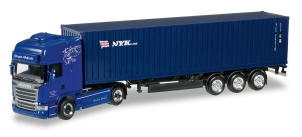 "Herpa 305723 - Scania R TL Container-Sattelzug ""Jürgen Schmid Transporte / NYK"" - 1:87"