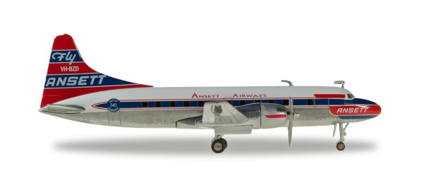 Herpa Wings 559706 - Ansett Airways Convair CV-340 - 1:200