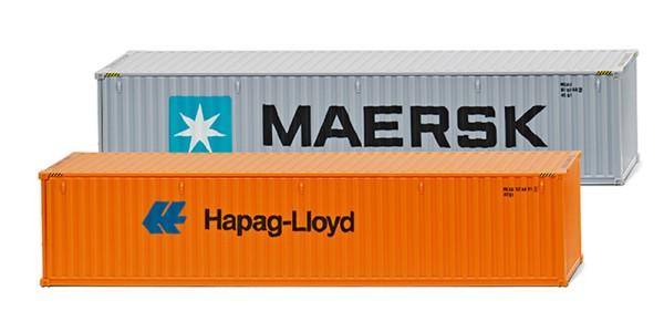 """Wiking 001813 - Zubehörpackung - 40' Container (NG) """"Maersk"""" & """"Hapag Lloyd"""" - 1:87"""