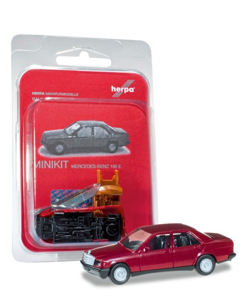 Herpa 012409-004 - Herpa MiniKit: Mercedes-Benz 190 E, purpurrot - 1:87
