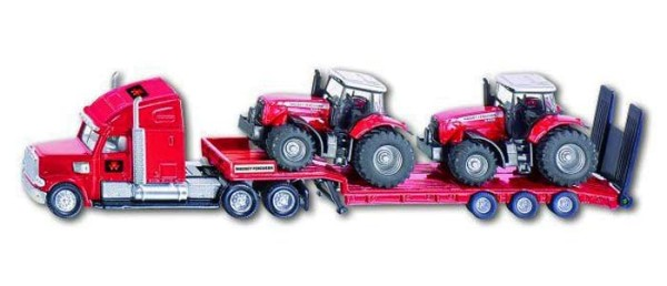 SIKU Farmer 1857 - LKW mit Massey Ferguson Traktoren - 1:87