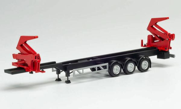 Herpa 076982 - Hammar Container-Seitenlader-Auflieger, schwarz - 1:87
