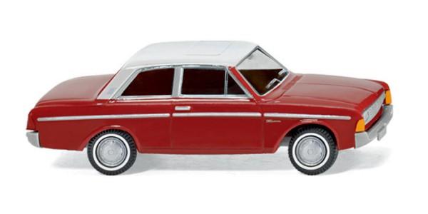 Wiking 0204 01 - Ford Taunus 20M - braunrot mit weißem Dach - H0