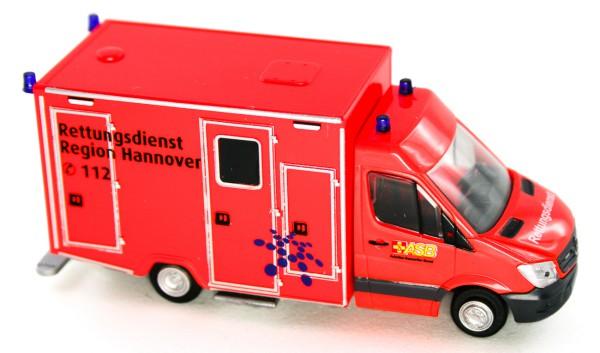 Rietze 61737 - WAS RTW Facelift Rettungsdienst Hannover - ASB - 1:87