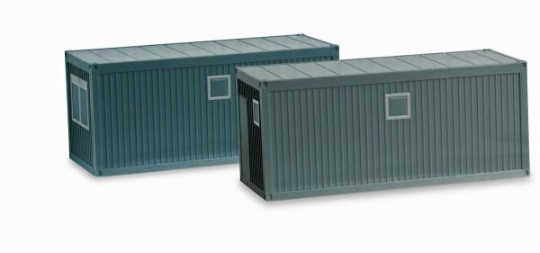 Herpa 053600 - Zubehör Baucontainer, betongrau (2 Stück) - 1:87